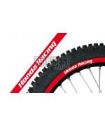 Adhesivo Llanta Blackbird Crystal Honda Racing rojo 5068R/60
